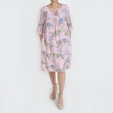 Molly Tiger Print Easy Dress in Pink