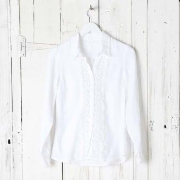 Lace Bib Long Sleeve Shirt