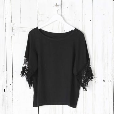 Lace Edge Sleeve Top