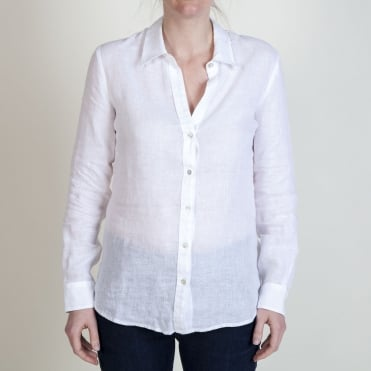L/S Collar Shirt in White