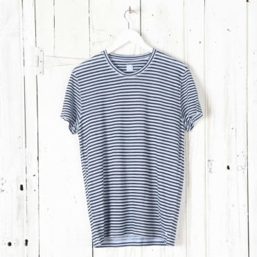 Short Sleeve Linen Stripe T Shirt