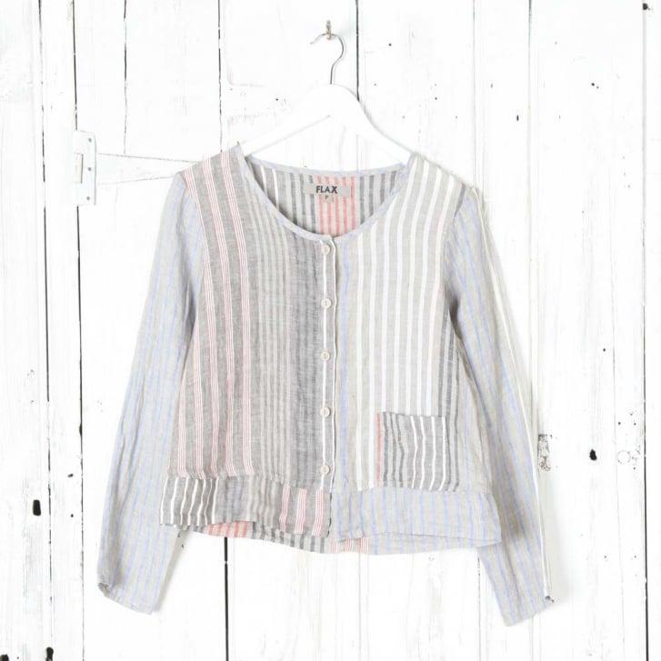 FLAX 2/3s Linen Stripe Shirt