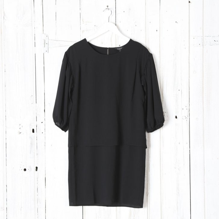 3/4 Length Sleeved Dress with Layered Top