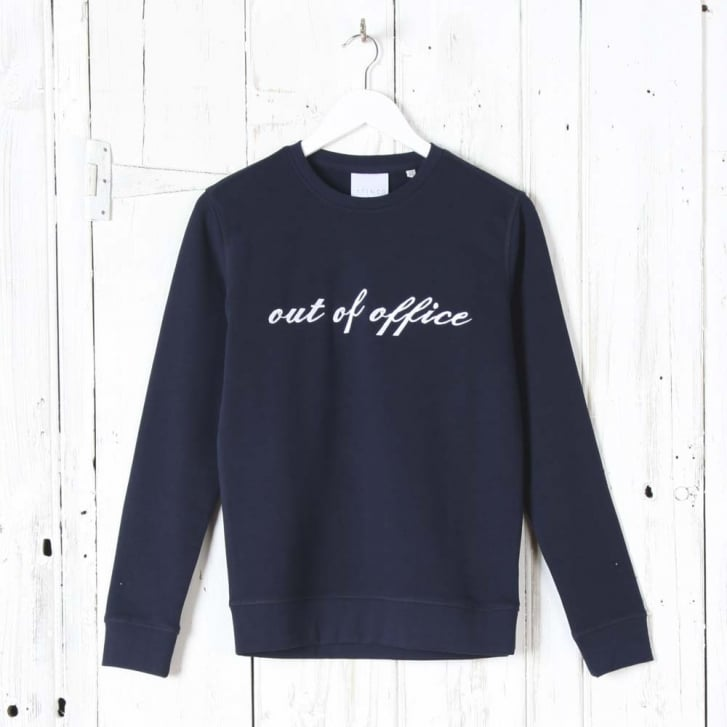 A FINER THREAD Out of Office Sweatshirt in Navy
