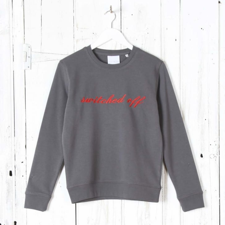 A FINER THREAD Switched Off Sweatshirt in Anthracite