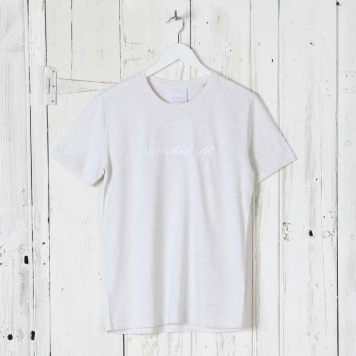 A FINER THREAD Switched Off T-Shirt in Light Grey
