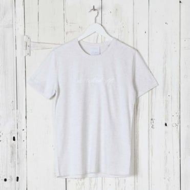 Switched Off T-Shirt in Light Grey