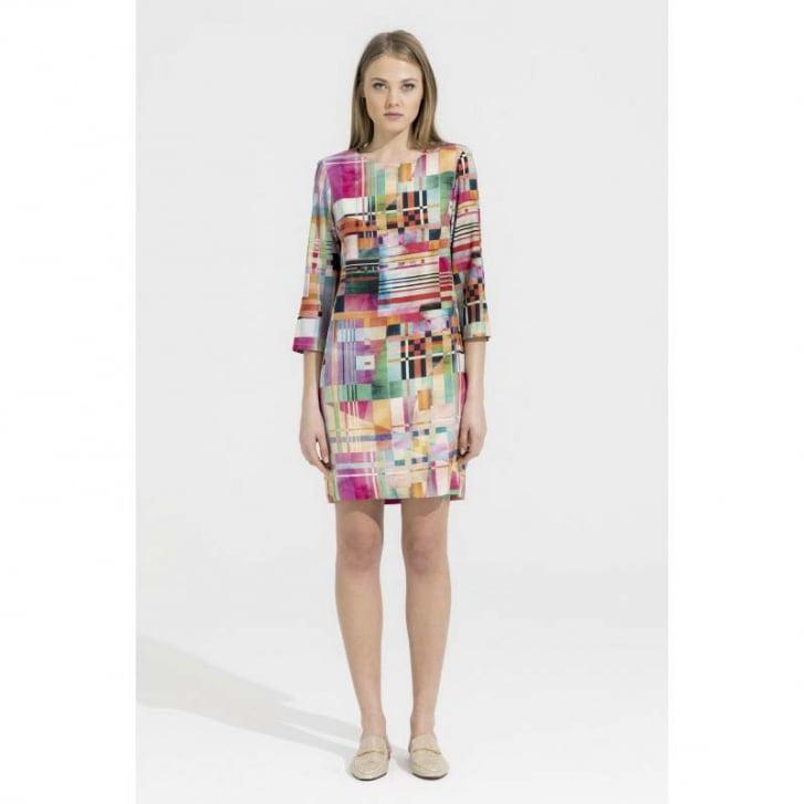 VILAGALLO Abstract Shift Dress