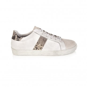 e1e7850636d0 Cru Snake Print Sneakers in White/Natural. AIR & GRACE ...