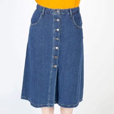 A Line Denim Super Soft Skirt
