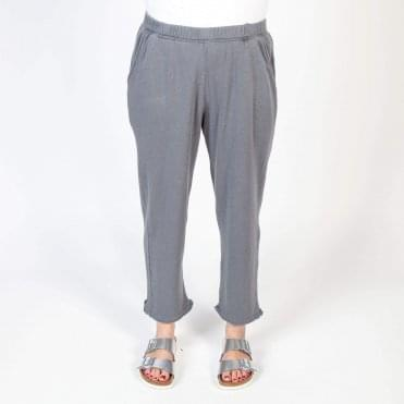 Crop Slouchy Jogging Pant in Vintage Carbon