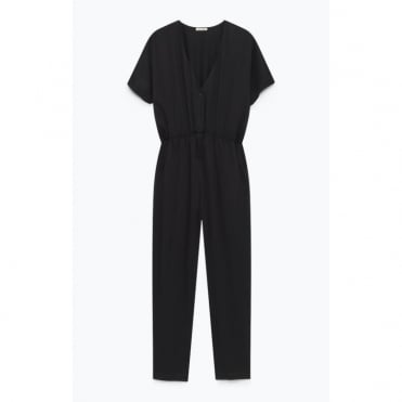 Easy Viscose Jumpsuit in Black