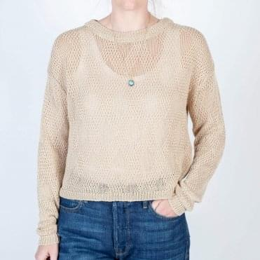 Lace Linen Knit in Cashew