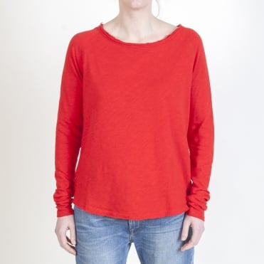 Sonoma Long Sleeve Top in Flamenco Red