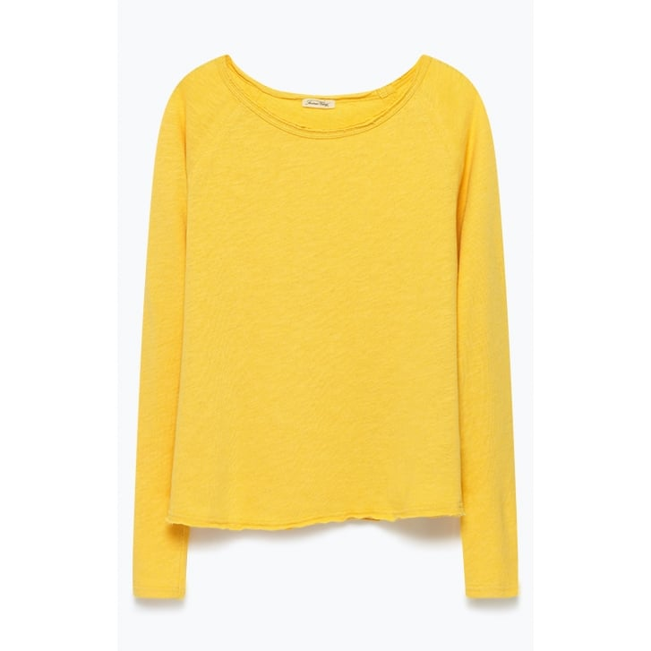 AMERICAN VINTAGE Sonoma Long Sleeve Top in Pollen
