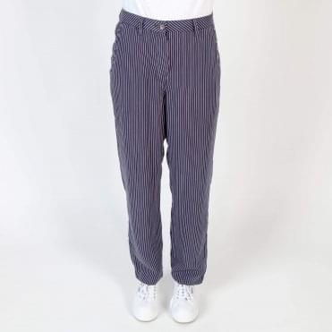 Stripe Slouchy Trouser in Navy