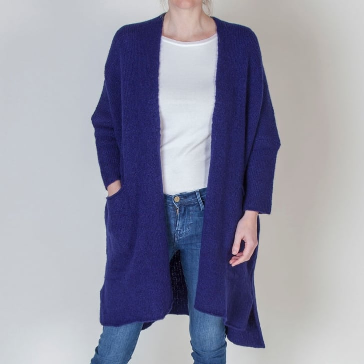 AMERICAN VINTAGE Vacaville Cardigan in Atlantic Navy