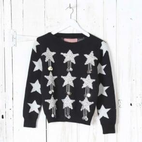 Black Star Sparkle Jumper
