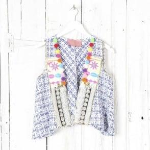 Monkey Embroidered Waistcoat