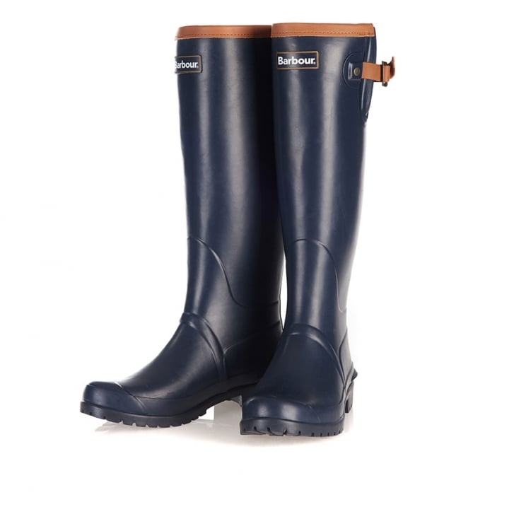BARBOUR Blyth Welly Boots in Navy