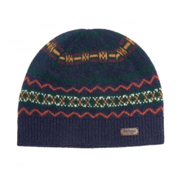 Castleside Hat in Navy & Green