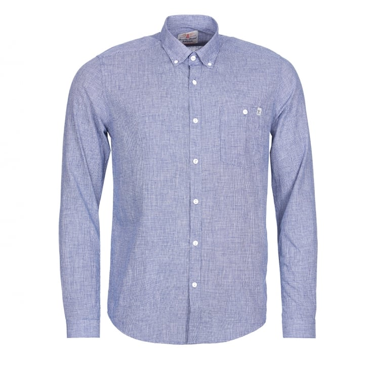 BARBOUR Lintern Shirt in Navy