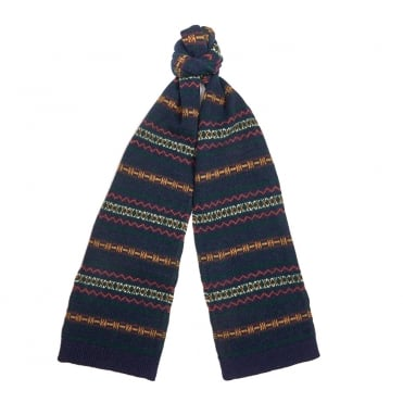 Martingale Scarf in Navy/Green