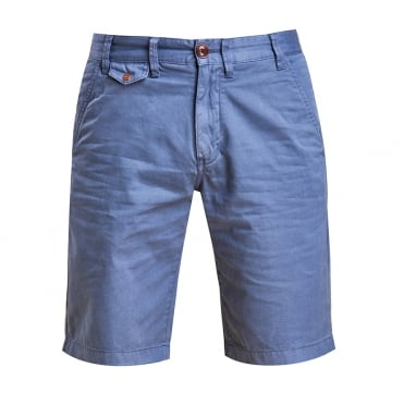 Neuston Twill Short in Dark Chambray