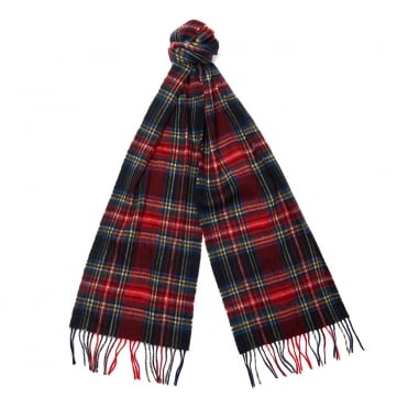 New Check Tartan Scarf in Black Stewart