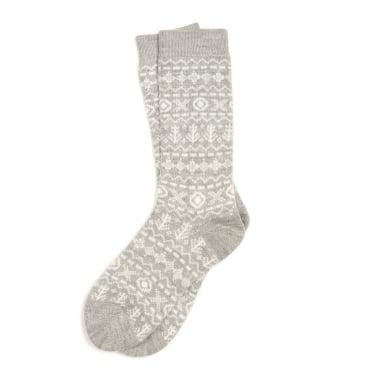 Newton Grey Fairisle Socks