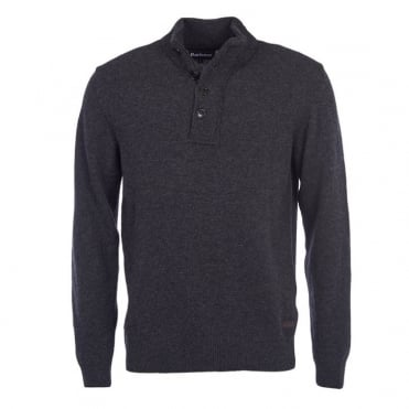 Patch Half Zip in Charcoal