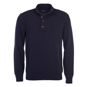 Patch Half Zip in Navy