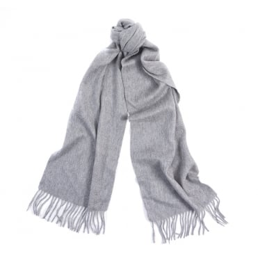 Plain Cashmere Scarf in Grey