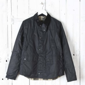 Reelin Wax Jacket in Navy