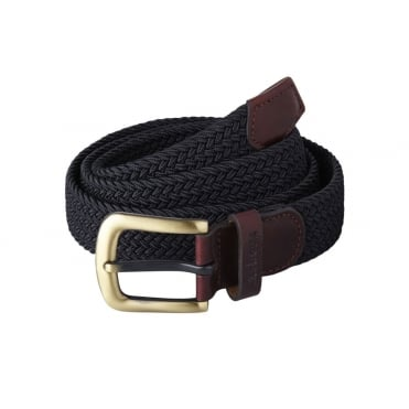 Stretch Webbing Belt in Navy