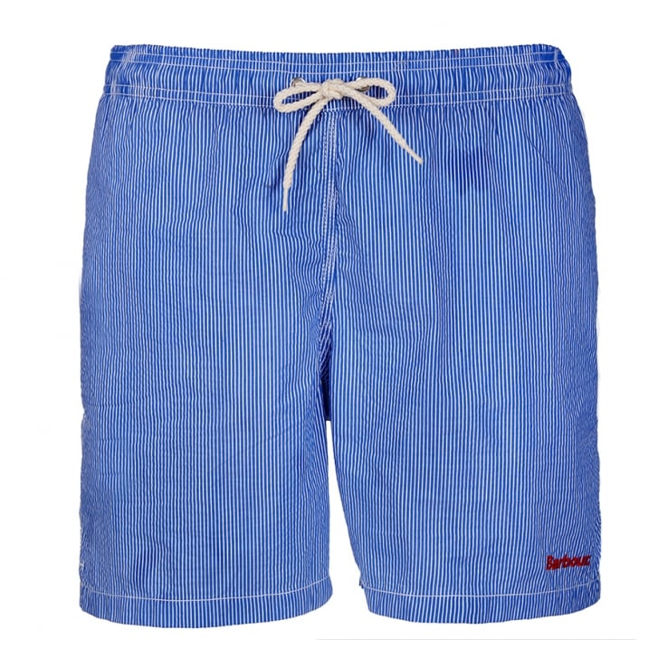 BARBOUR Striped Shorts in Blue