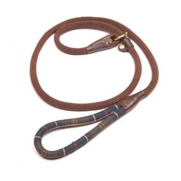 Tartan Trimmed Slip Dog Lead