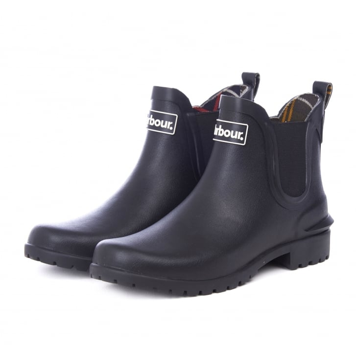 BARBOUR Wilton Welly Boot in Black