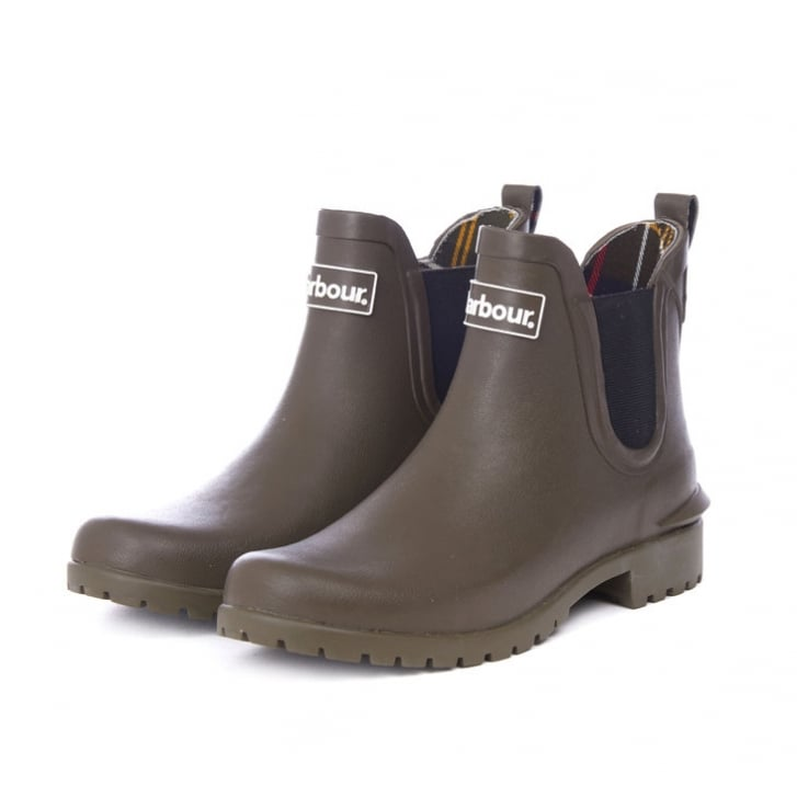 BARBOUR Wilton Welly Boot in Olive
