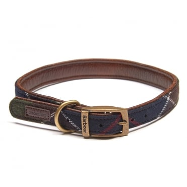 Wool Touch Dog Collar in Classic Tartan