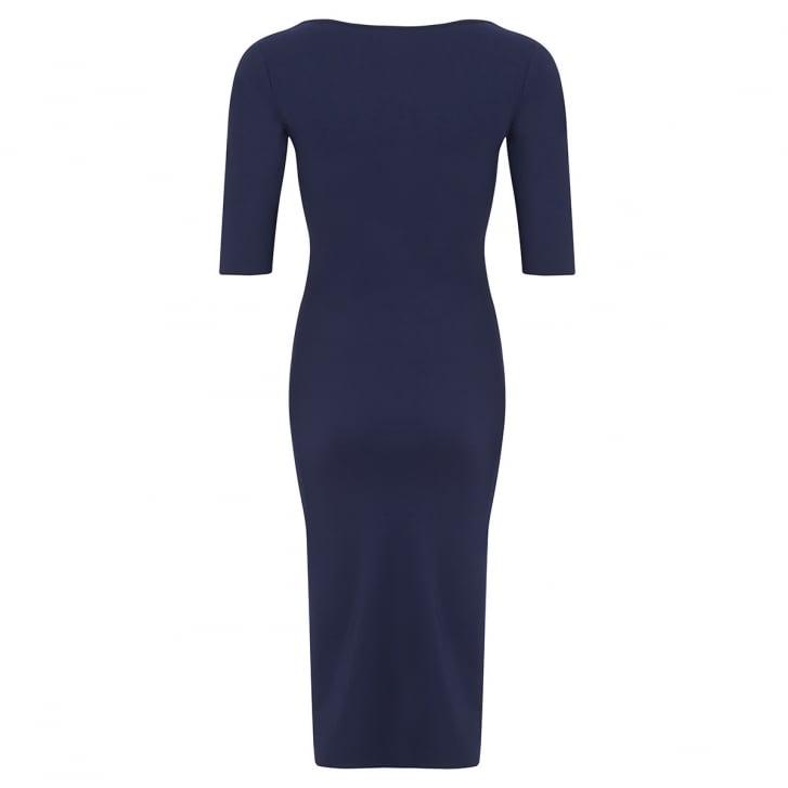 HOPE FASHION Bardot 3/4 Sleeve Scoop Neck Dress