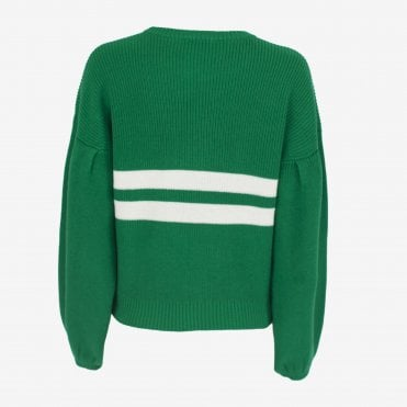 Celeste Stripe Oversize Knit in Jolly Green