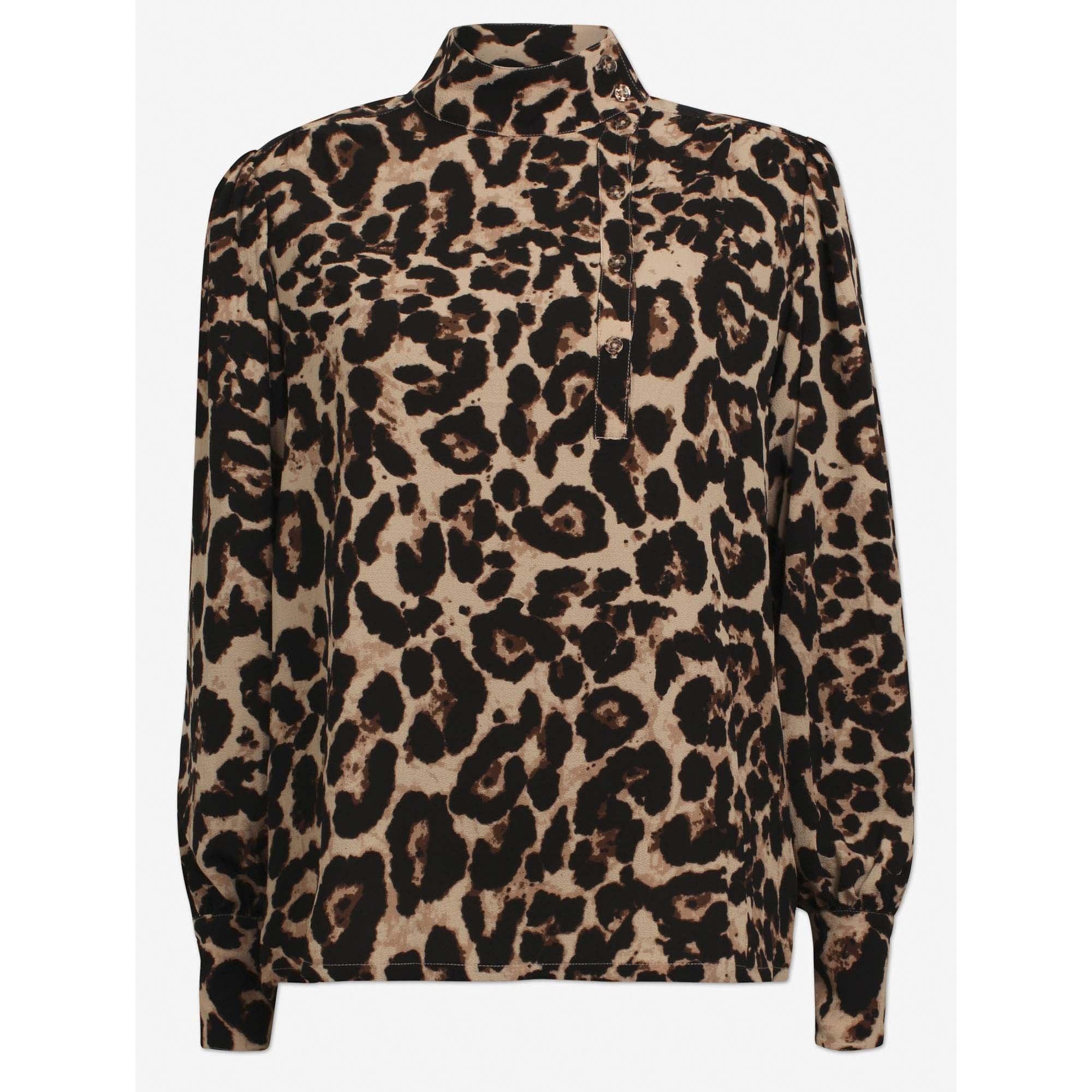 130c4267116b BAUM UND PFERDGARTEN Maansi Animal Shirt in Wild Leopard