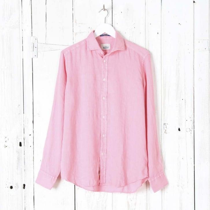 BD BAGGIES Bradford Linen Cut Away Collar Shirt