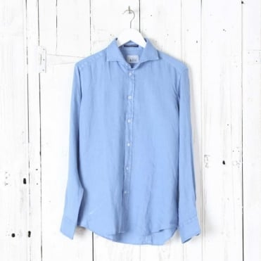Bradford Linen Cut Away Collar Shirt