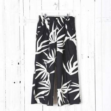 Palm Print Culotte Trousers