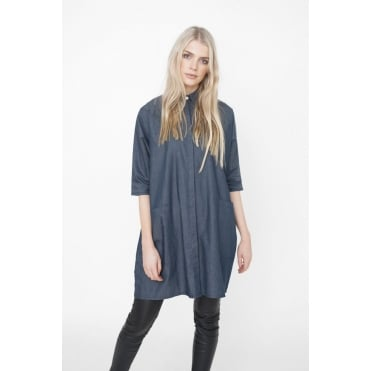 Felicity Denim Shirt in Navy
