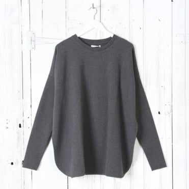 Kate Organic Cotton Sweatshirt in Dark Grey