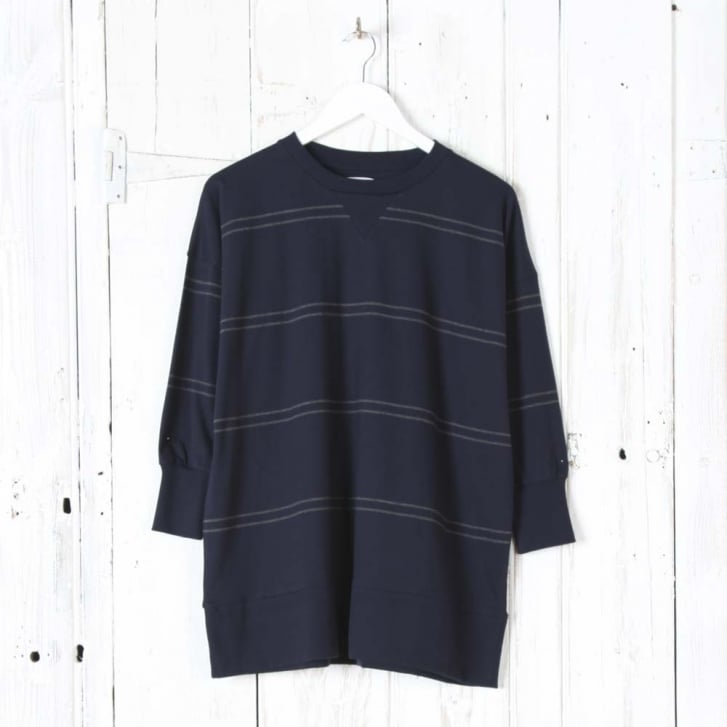 BEAUMONT ORGANIC Lilly-Ella Organic Cotton Top in Navy and Dark Grey