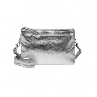 Bellu Glitz Crossbody Bag in Silver Grey